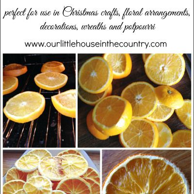How to Make Dried Orange Slices | Our Little House in the Country
