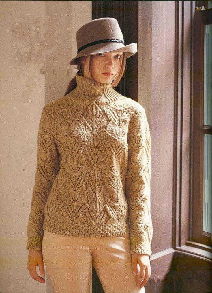 葉子圖案的米色毛衣 - 紫苏 - 紫苏的博客