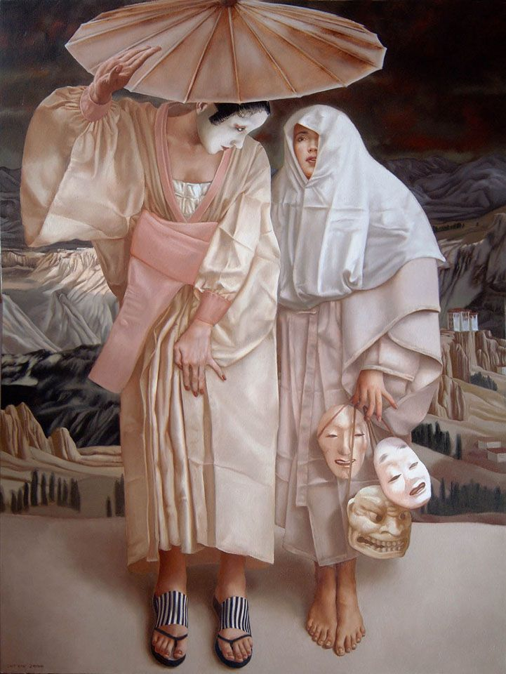 """By painter Lui Liu - Gallery Yin. LUI LIU WAS BORN IN 1957 IN NORTHERN CHINA AND NOW LIVES AND WORKS IN ONTARIO, CANADA. HE IS KNOW FOR """"ENTWINING TRADITIONAL PAINTERING TECHIQUES WITH A STRIKING COMTEMPORARY MIND SET""""."""