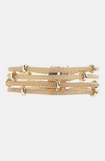 Anne Klein Multi Row Mesh Bracelet available at #Nordstrom