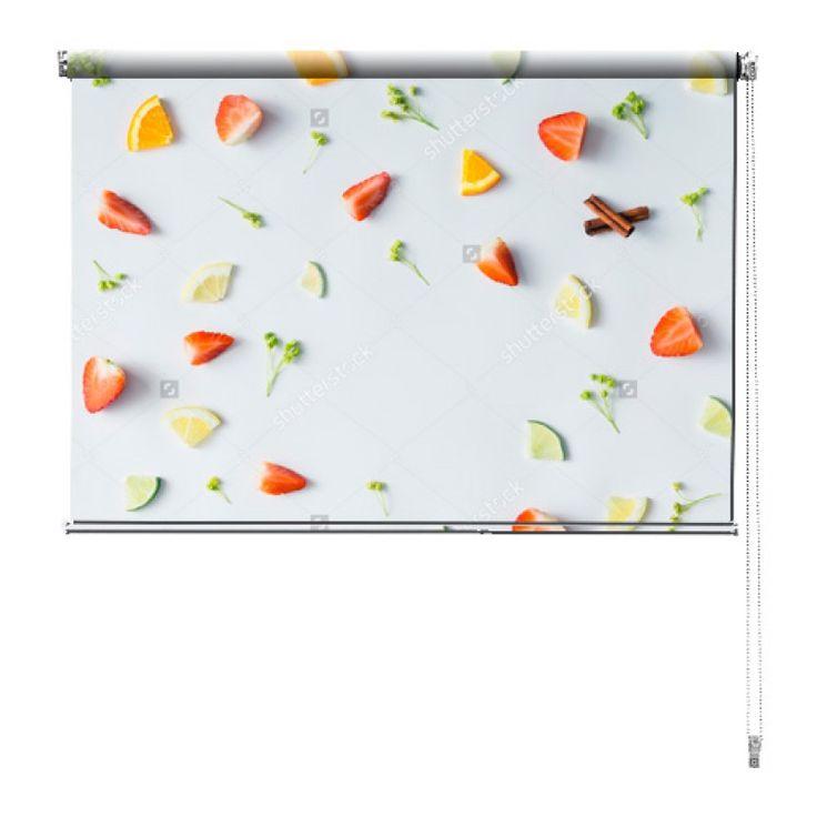 Rolgordijn Ingrediënten | De rolgordijnen van YouPri zijn iets heel bijzonders! Maak keuze uit een verduisterend of een lichtdoorlatend rolgordijn. Inclusief ophangmechanisme voor wand of plafond! #rolgordijn #gordijn #lichtdoorlatend #verduisterend #goedkoop #voordelig #polyester #fruit #gezond #vruchten #voedsel #eten #keuken #lekker
