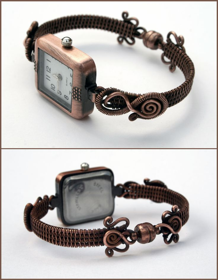 Women watch made of copper wire. www.facebook.com/Zsugorkaland
