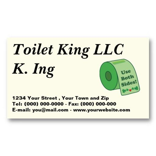 Toilet Paper business Profile Card Business Cards - all text can be replaced :) #businesscards
