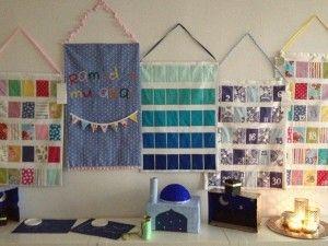Ramadan calendar ideas and free printable tags! (Ramadan Calendar, Papier mache mosque, shoe box mosque, moon sighting craft and mini Kaba of paper)