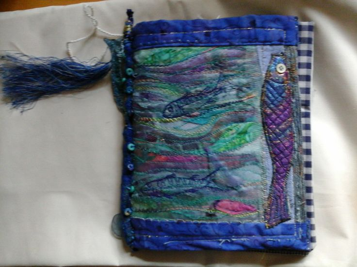 Hand made textile book by Heather Norwood