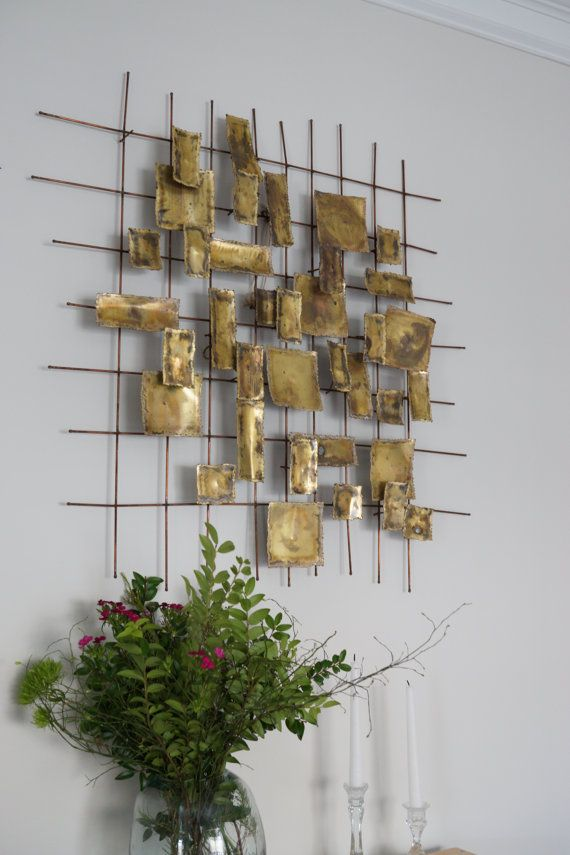 Willem Degroot Brutalist Midcentury Wall Sculpture by NayaVintage