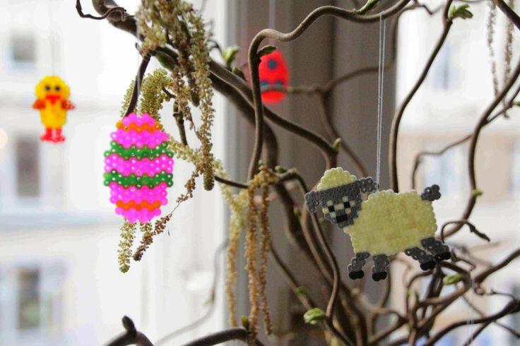 Hama beads easter, hama perler påske