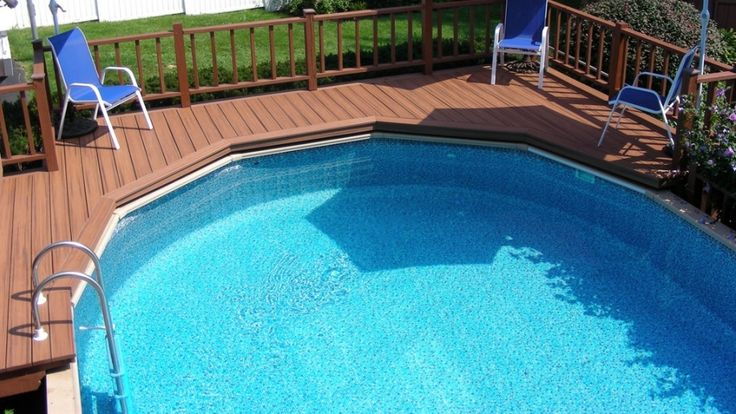 An above ground pool cost less than in-ground pool. Above ground pools are also easier to remove if you sell your home to a buyer who doesn't want a pool.