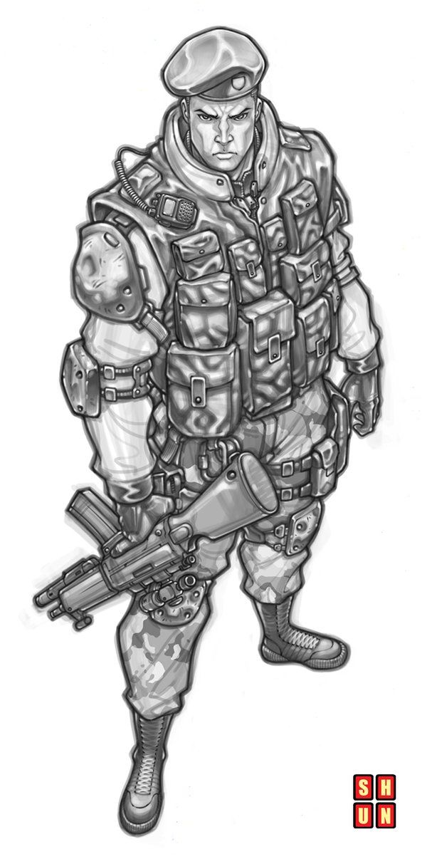 Gi Joe - General Hawk by Nats Ledesma *