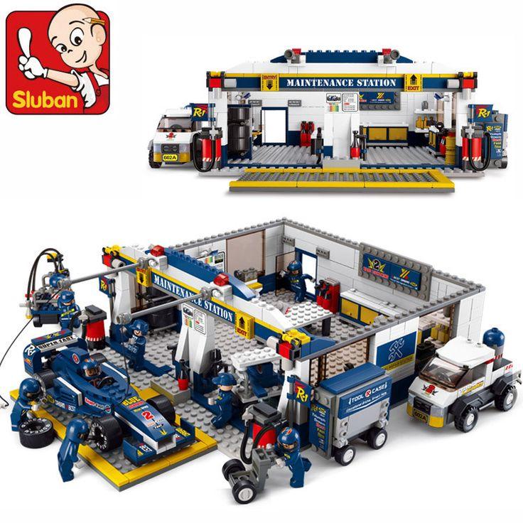 Купить Sluban F1 гоночный автомобиль 741 шт. образования DIY кирпичи игрушки без Orignial Box совместим с legoи другие товары категории Кубикив магазине Skyblue Co., Ltd.  наAliExpress. Кубики