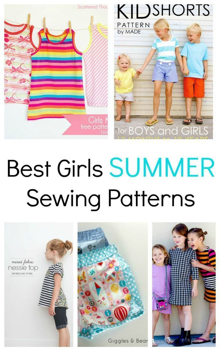 Favorite Summer Kids Sewing Patterns for girls.