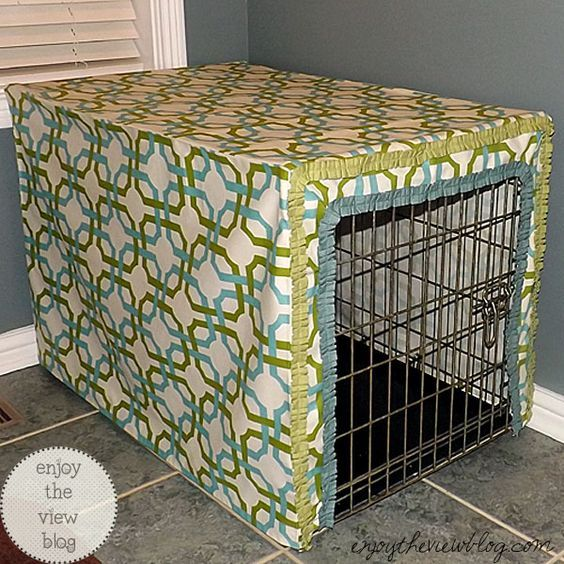 How to Make a Dog Crate Cover #waverize #sponsored | enjoytheviewblog.com