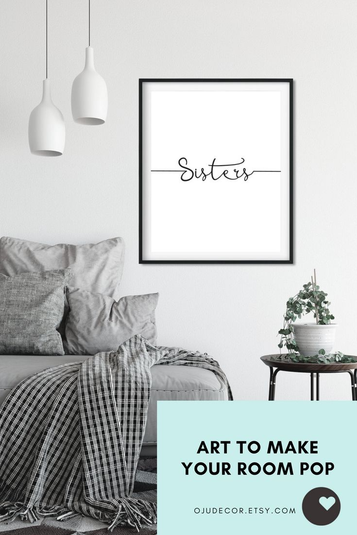 b016bb60b5f51 Sister Gift, Quote Print, Gifts for Sisters, Quote Poster, Wall ...