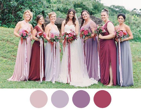 berry-wine-lilac-bridesmaid-dresses