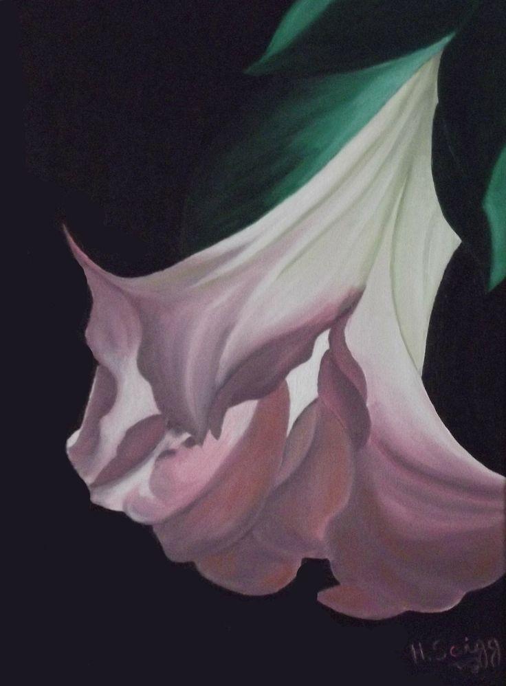 Flor #01 November,2013 30 cm x 40 cm  Oil on Canvas ( Óleo sobre Tela) www.artsaigg.com