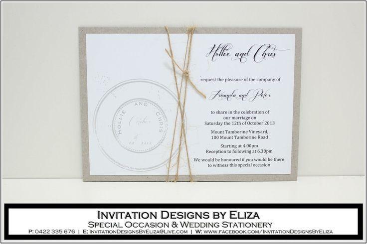 Invitation Design {Wedding} Vintage Postal Theme www.facebook.com/InvitationDesignsByEliza