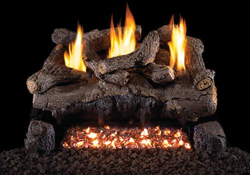 peterson 18 inch ventless evening fyre gas log for natural gas