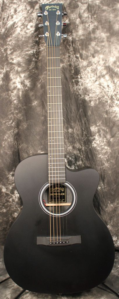2015 Martin Performing Artist OMCPA5 Cutaway Orchestra Model Acoustic-Electric Guitar Satin Black
