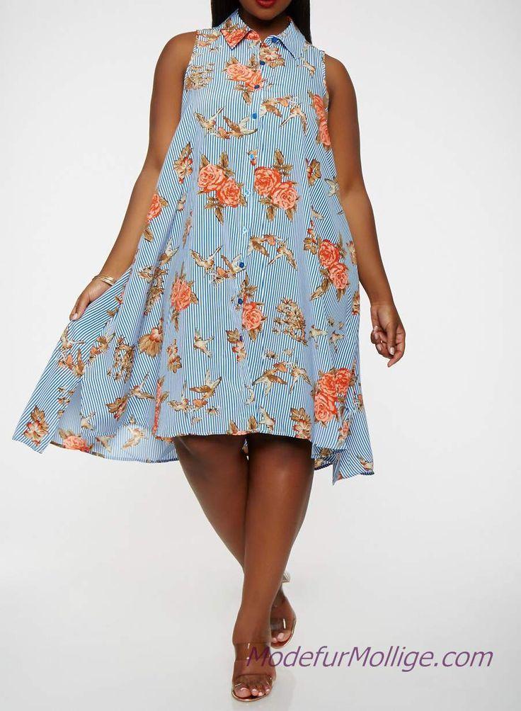 Shirtkleider für Mollige Frauen in Große Größe Sommerkleider