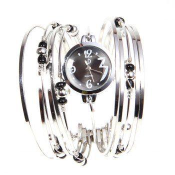 Noble estilo de mujeres reloj pulsera horas del cuarzo analógico con Anillos Multi-Strand para Vender - La Tienda En Online IGOGO.ES