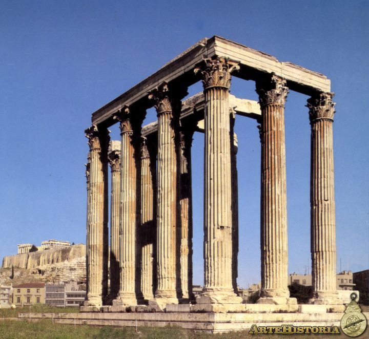 Templo de zeus arquitectura unc pinterest arte for Arquitectura griega templos