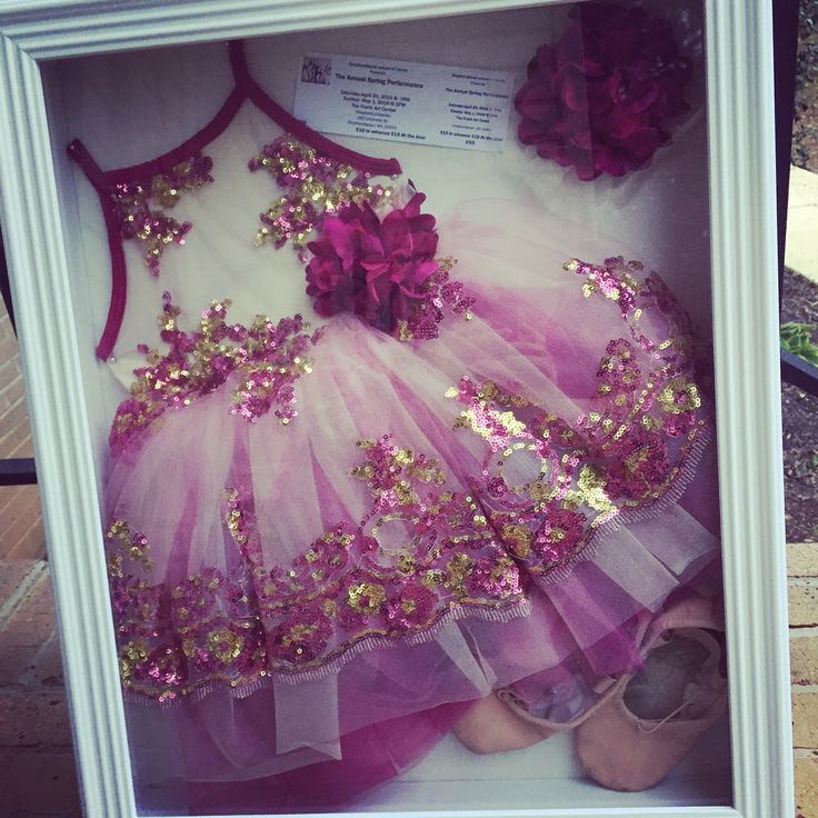 Ballerina shadow box recital 1st dance dancer little girl dance outfit