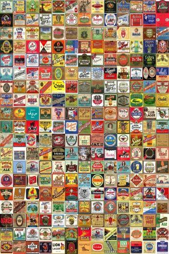 Poster Beer Label Montage.
