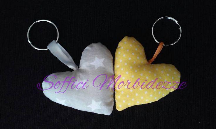 Portachiavi a forma di cuoricino in tessuto, by Soffici Morbidezze, 1,50 € su misshobby.com