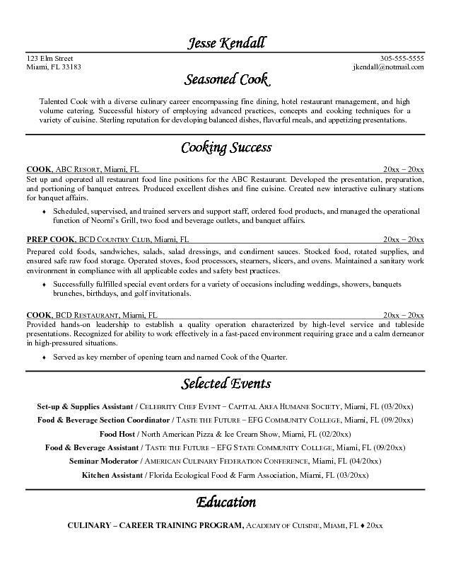 25+ melhores ideias de Resume template australia no Pinterest - line cook resume