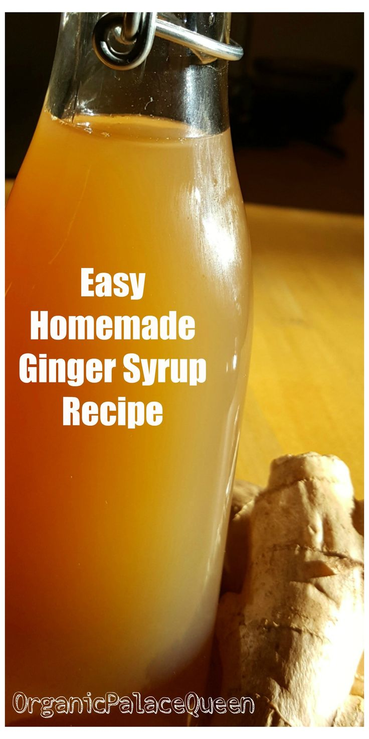 DIY Ginger Syrup Medicinal Recipe (With images) Syrup