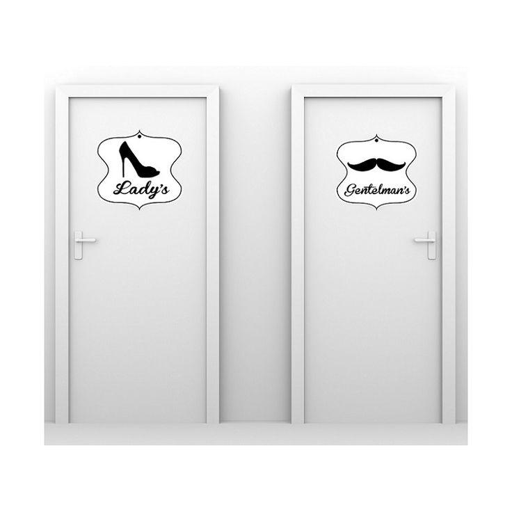 Stickers wc ladies stickers toilettes pas cher deco - Stickers deco wc ...