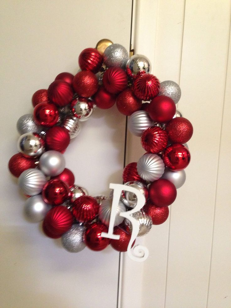 Best 25 ornament wreath hanger ideas on pinterest christmas diy christmas ornament wreath hanger glue gun christmas balls and wooden initial solutioingenieria Images