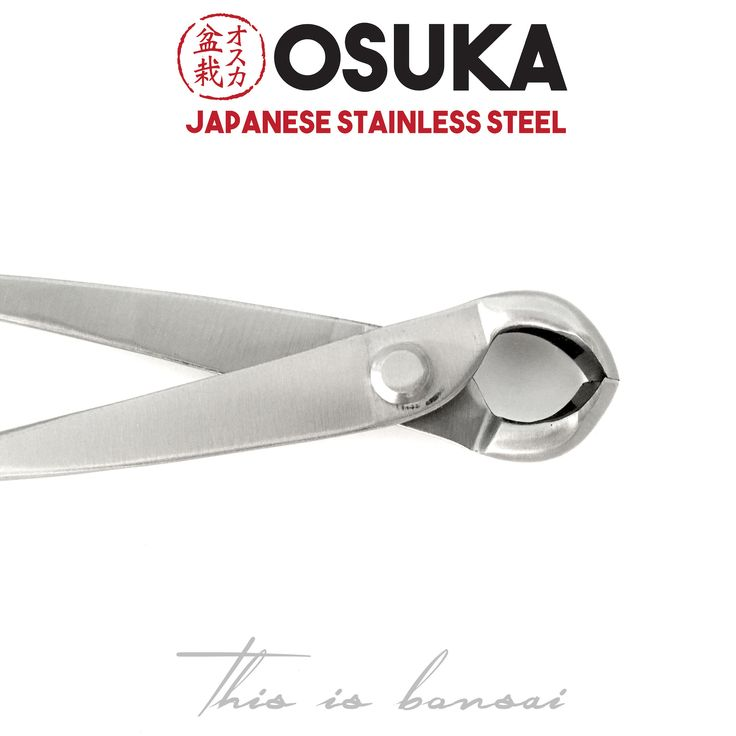 • OSUKA Bonsai Knob Cutters (Spherical Knob Cutters)  • Length – 210mm  • Finish – Silver  • Material – High Quality Japanese Stainless Steel