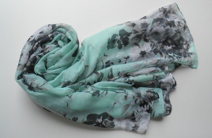 Womens Accessories | Accessories Online | Scarves | Jewellery - Soft Green Floral Scarf