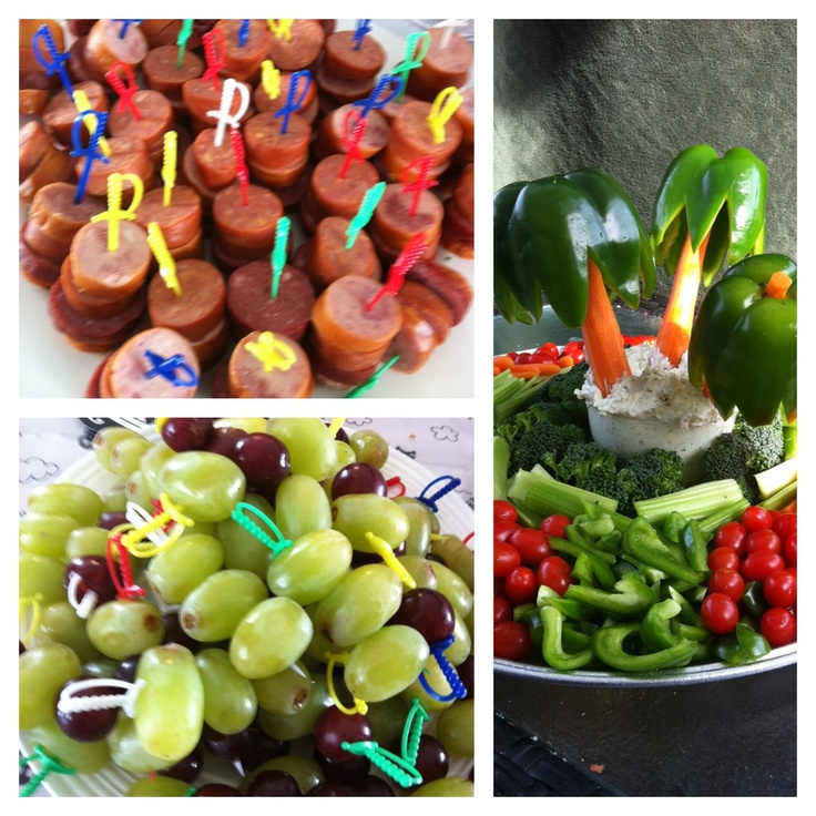 Pirate Party Food Ideas Palm Tree Veggie Platterawesome Those Little Swords Were