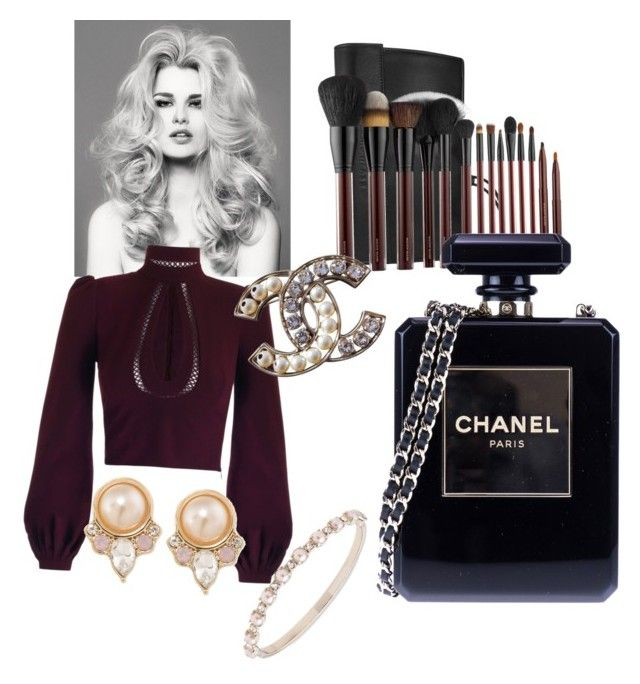 """""""Pearls and Chanel"""" by oana-grigorie on Polyvore featuring Carolee, Marchesa, Kevyn Aucoin and Chanel"""