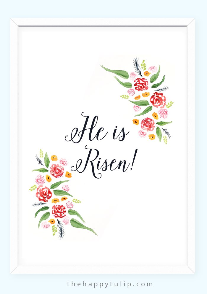 Free Watercolor Easter Printables │ thehappytulip.com