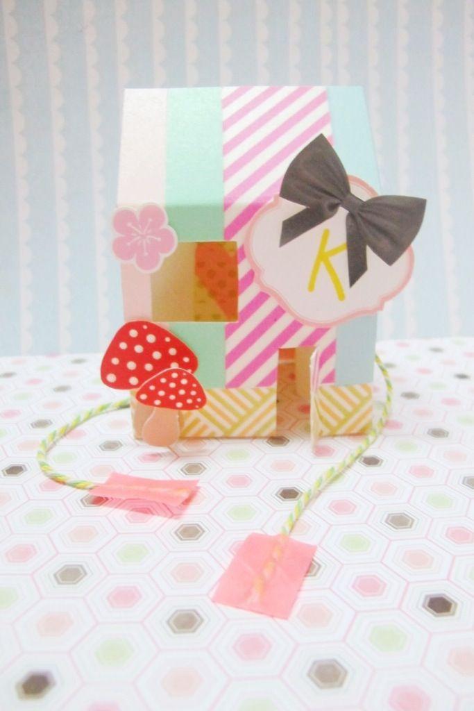 DIY Popup card - washi tape | kitty manu