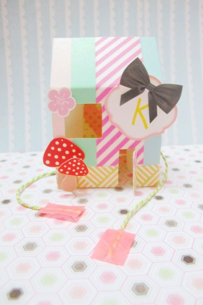 DIY Popup card - washi tape | kitty manu