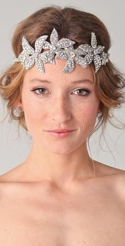 Deepa Gurnani Floral Crystal Headband  for my day!!!: Crystals, Hair Ideas, Crystal Headband, Wedding Hairs, Crystal Wedding, Traditional Wedding, Veil Alternative, Bridal Headbands