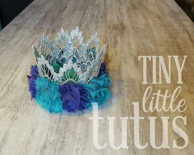 Mermaid crown in teal & purple with silver lace. Perfect for a birthday outfit, cake smash or birthday photos. Matching tutu available for order. Visit us on Facebook or Etsy for custom orders. Facebook link below photo, Etsy link on our main page. Fast shipping available.