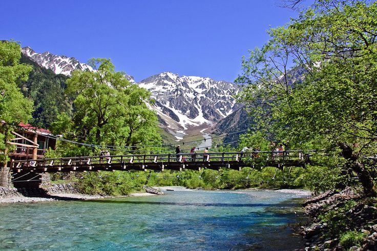 Kappabashi bridge in Kamikochi, Japan.  Travel  Pinterest  Kamikochi, Park...