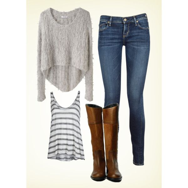 Grey knit and boots