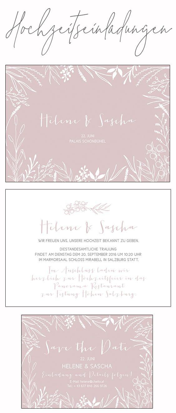 Hochzeitseinladungen In Altrosa Hochzeitskarten Hochzeit