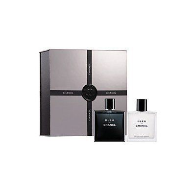 Bleu de Chanel Boldly Unexpected Gift Set 2 Piece for Men (3.4 FL OZ EDT Spray and After Shave BALM) by CHANEL. $219.95. CHANEL BLEU DE CHANEL GIFT SET Limited Edition..Set includes: Eau de Toilette Spray (3.4 oz.) and After-Shave Balm (3 oz.) in a deluxe gift box. Bleu de Chanel Boldly Unexpected Gift Set  for Men (3.4 FL OZ EDT Spray and 3.4 FL OZ After Shave Balm):     The new woody, aromatic scent from Chanel for the man who defies convention!  The deluxe gift set se...