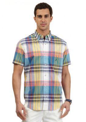 Nautica  Short Sleeve Colorful Madras Shirt