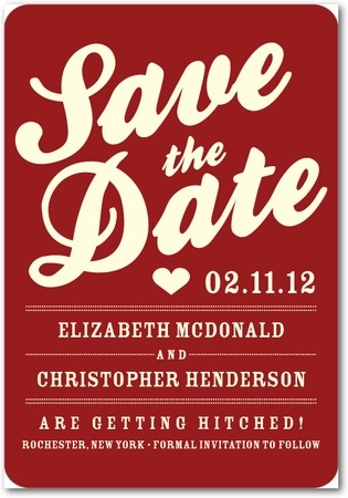 Magnet save the dates!