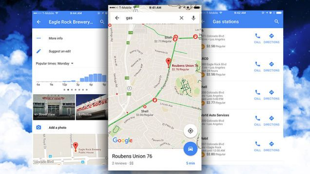 Google Maps for iOS Gets Offline Maps, Local Gas Prices, and Popular Business Hours