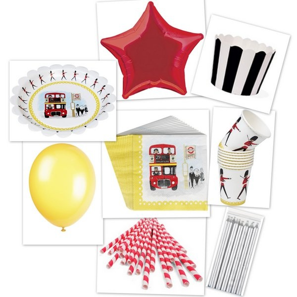 """Birthday party kit """"God save the Queen"""""""
