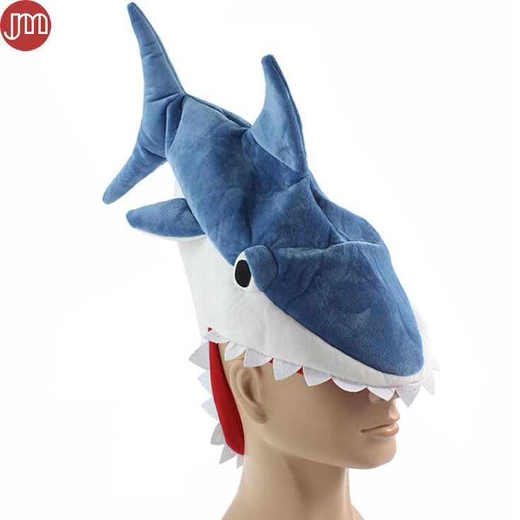 """Find More Movies & TV Information about New Shark Toys Cosplay Costume Ocean Fish Hat Party Funny Cap for Adults Teenagers Christmas Gift Perimeter 24"""" Blue Novelty Toy,High Quality cap america hats,China hat lamp Suppliers, Cheap cap sleeve formal gowns from M&J Toys Global Trading Co.,Ltd on Aliexpress.com"""